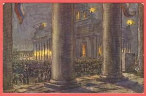 Исаакиевский собор в Пасхальную ночь