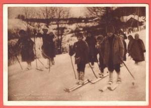 Зимний спорт в деревне