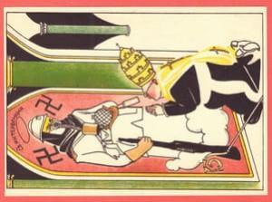 Советская открытка Святая интервенция.